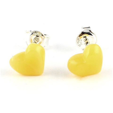 Silver Baltic amber earrings 45