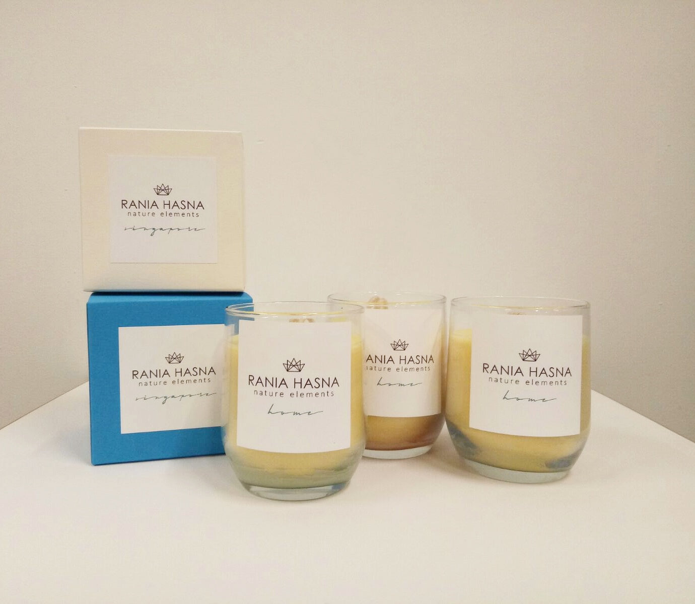 Coconut & Beeswax Candles - Rania Hasna Nature Elements