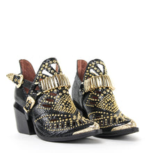 JEFFREY CAMPBELL CALHOUN 4. Studded Western Bootie. Black Snake. Designed In California. Buy Now Afterpay & zipPay Available. Free & Fast Shipping AU.