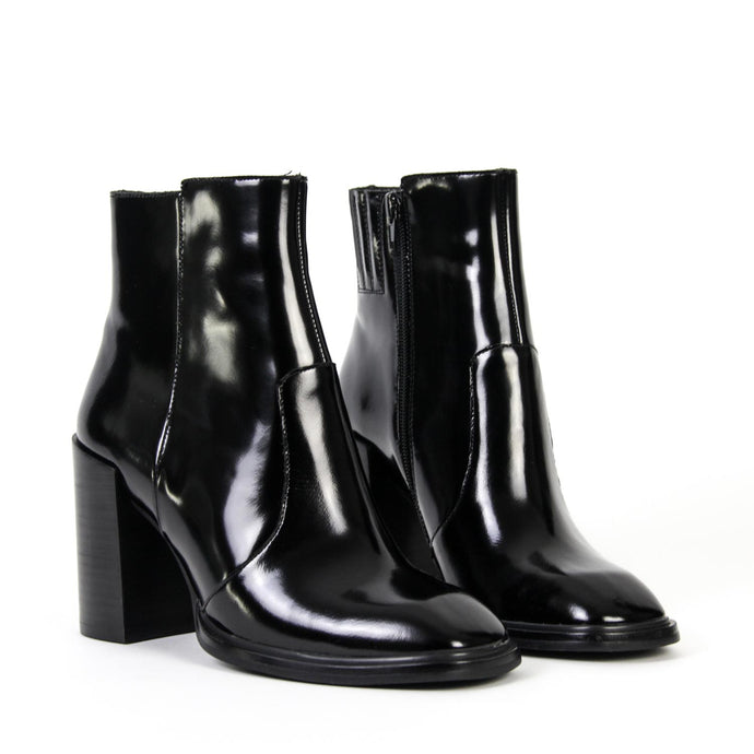 FAIRFORD High Ankle Boot Black Shine