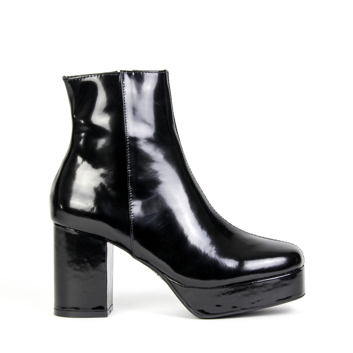 FOSSE-LO Platform Boot Black Shine