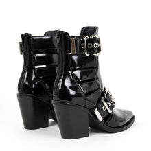 JEFFREY CAMPBELL Guadalupe. Cutout Buckle Bootie. Black Shine Leather. Designed In California. Buy Now Afterpay & zipPay Available. Free & Fast Shipping AU.