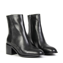 Jeffrey Campbell OASIS STACK. Women's Ankle Boot In Black Leather With Zip Closure & 6.5cm Black Heel. Free Shipping Over $150. Afterpay & ZipPay Available.