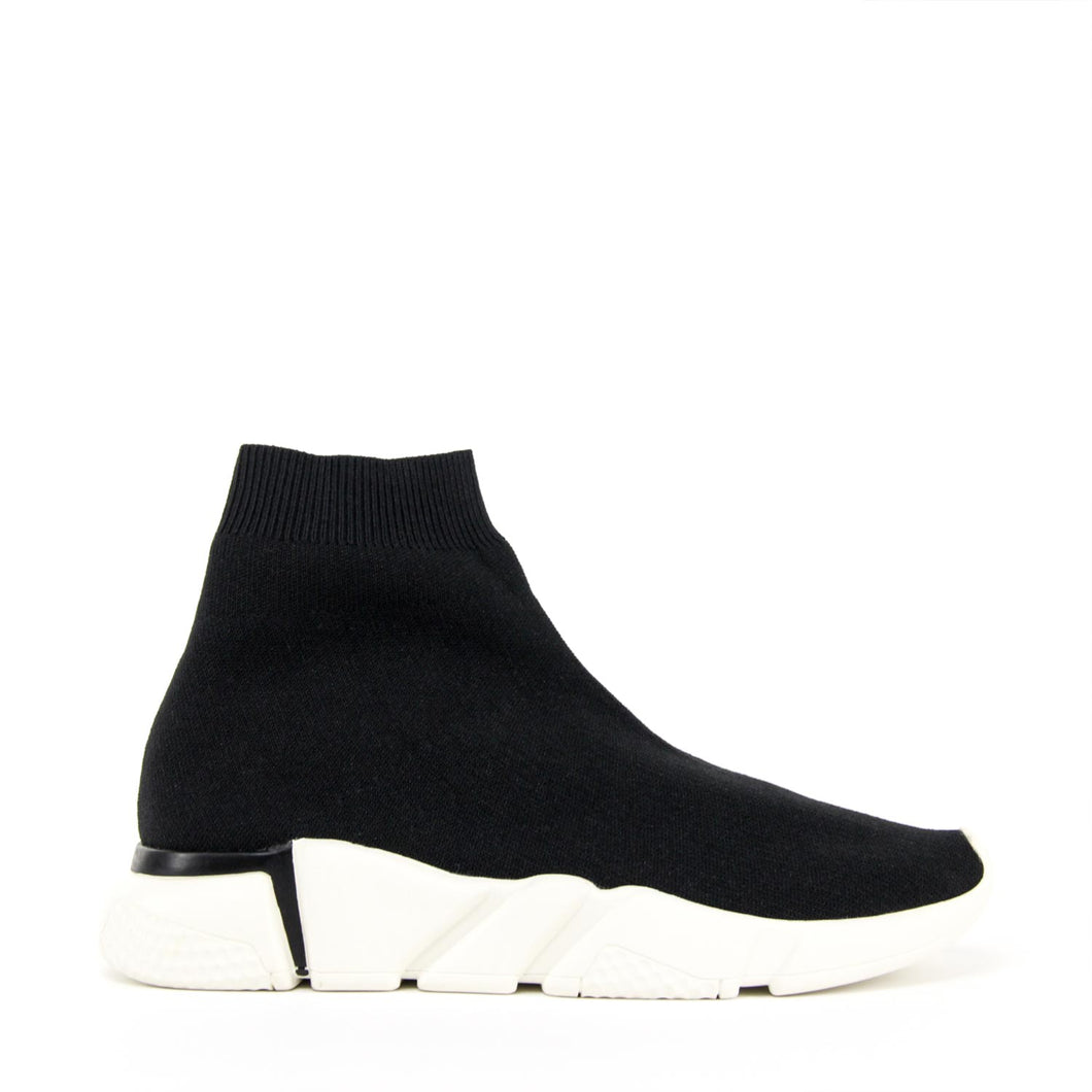 JEFFREY CAMPBELL REDMAN. Mid-Top Knit Sneaker Black Textile. Designed In California. Buy Now Afterpay & zipPay Available. Free & Fast Shipping AU.