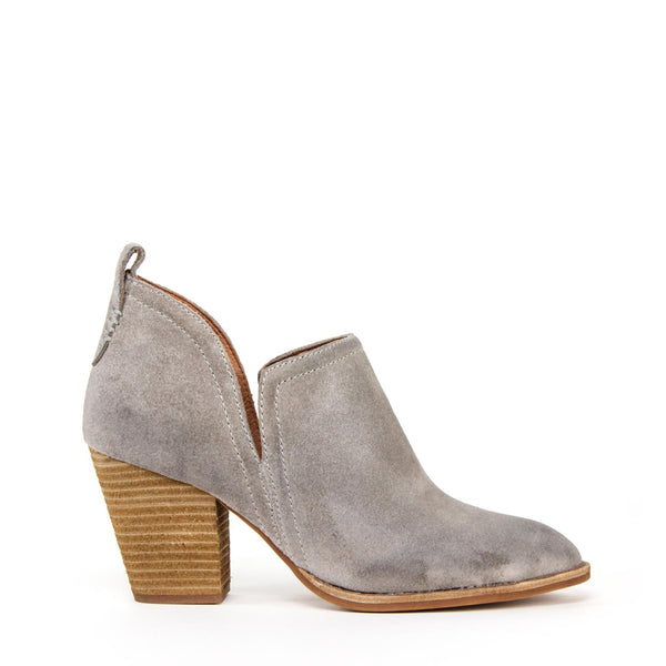 ROSALEE Ankle Bootie Taupe Oiled Suede
