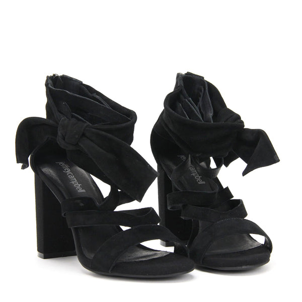 YASMINA High Bow Sandal Black