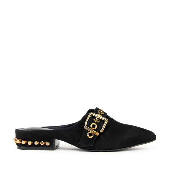 JEFFREY CAMPBELL Talega Studded Mule Black Nubuck.