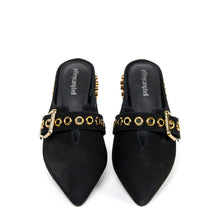 JEFFREY CAMPBELL Talega. Studded Mule. Black Nubuck. Designed In California. Buy Now Afterpay & zipPay Available. Free & Fast Shipping AU. Exclusive.