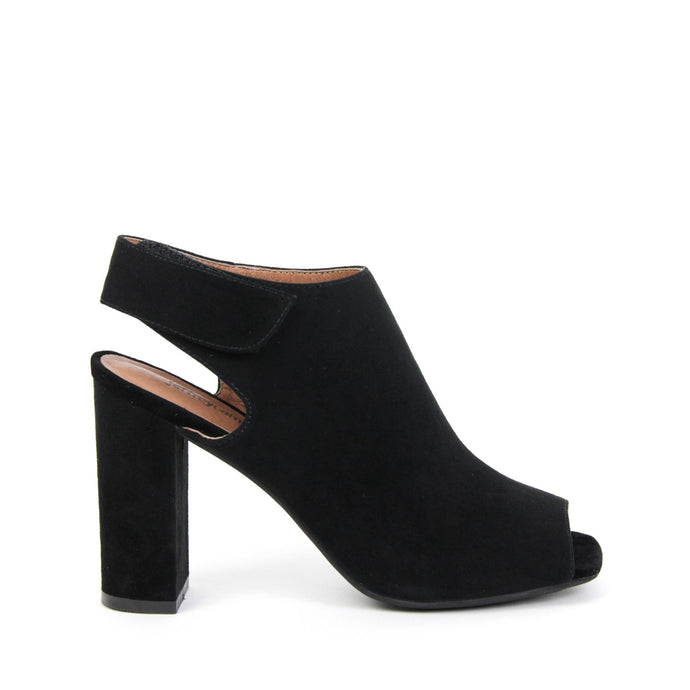 BALTIMORE High Sling Back Mule Black