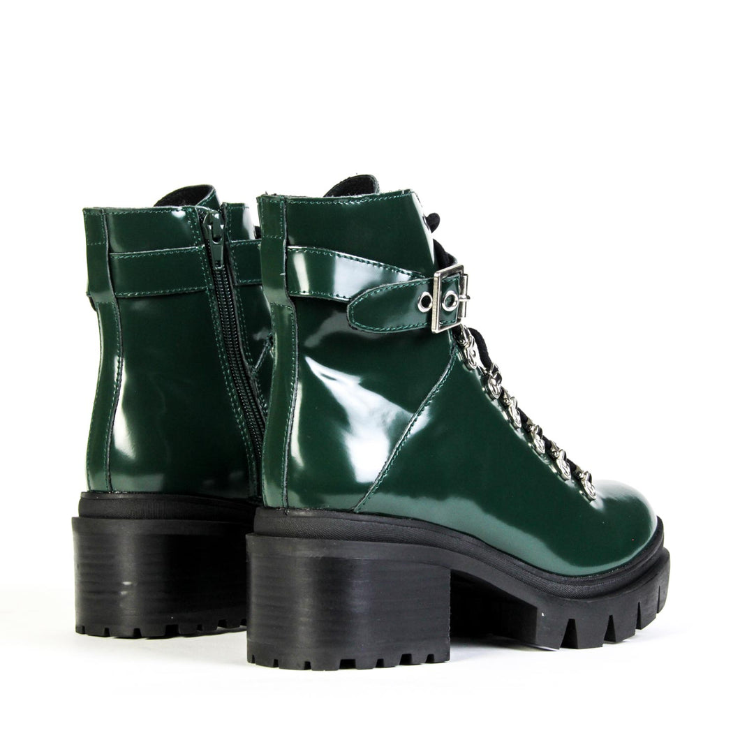 Jeffrey Campbell Czech Combat Boot Green Amo Store