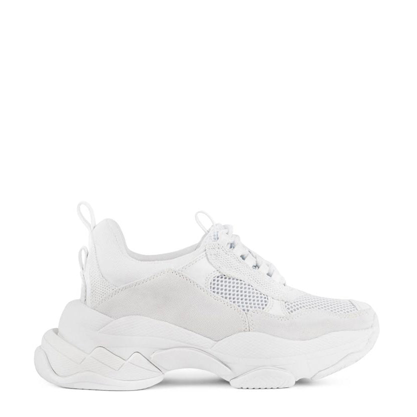 Jeffrey Campbell's Lo-fi sneakers in white leather and mesh uppers take the Dad style one step further with an exaggerated triple stacked platform that will give height to more petite frames. Free National Shipping. Afterpay and ziPpay available.