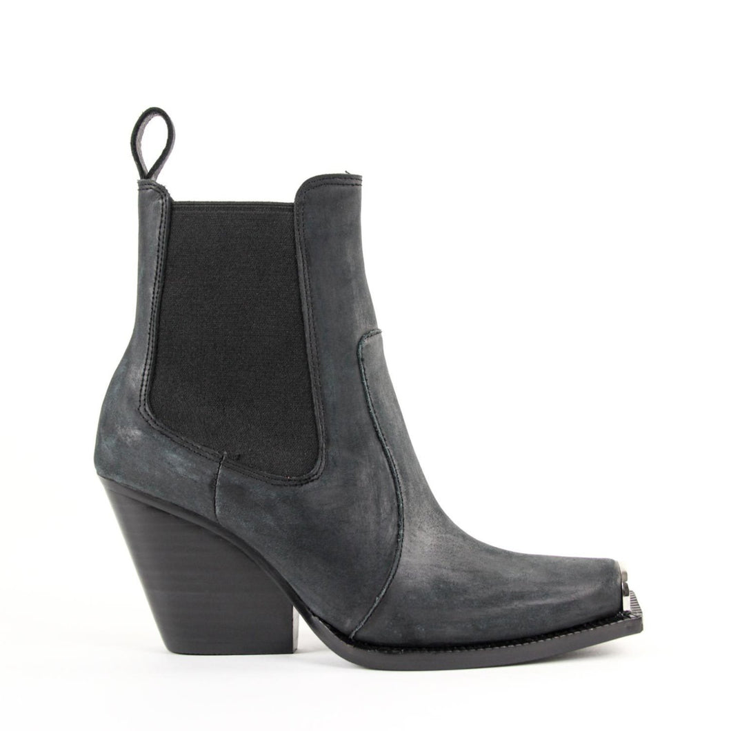 JEFFREY CAMPBELL SURREY. Chelsea Western Bootie. Black Distressed Leather. Designed In California. Buy Now Afterpay & zipPay Available. Free & Fast Shipping AU.