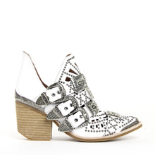 Jeffrey Campbell Wycliff-2 Studded Buckle Ankle Bootie White Leather. Free, Fast Shipping Australia Wide On Orders Over $150. Afterpay & ziPpay Available.