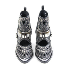 The Jeffrey Campbell Wylie studded western bootie is crafted in lazer cut black leather with silver metal toe rands, polished studding and bold embellished harness with heritage style buckle closure. These rocking women's western booties will liven up a casual look through all seasons. Free, fast shipping Australia Wide. Buy Now & Pay Later with Afterpay.