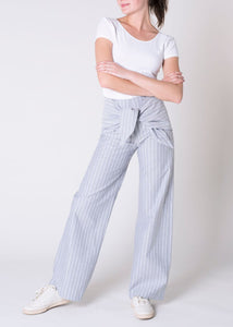 SOPHORA - Striped Organic Cotton Pants
