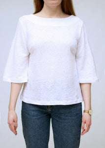 Linen Top with Wide Sleeves