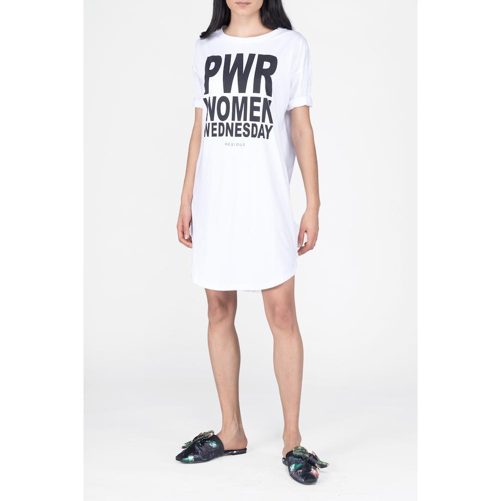 PWR WOMEN WEDNESDAY - Organic Cotton Tee Dress