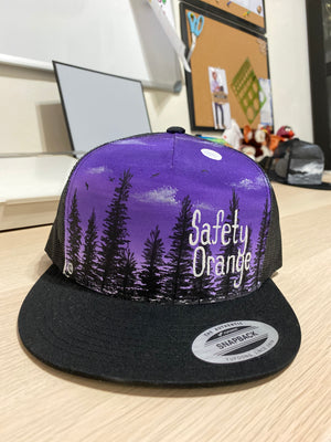 Hand Painted Safety Orange Hats By Krystal Dyer