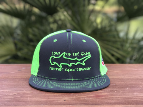 'Love of the Game' flexfit flatbill or curved hat