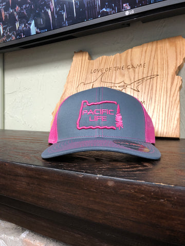 Pink Pacific Life trucker hat