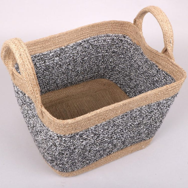 Trade Aid Black and White Square Jute Basket 01.01.4255