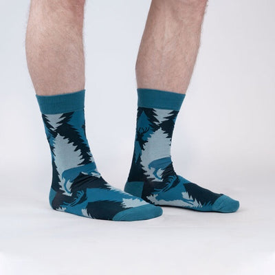 Sock it to Me Men's Crew Socks Going Stag 0438