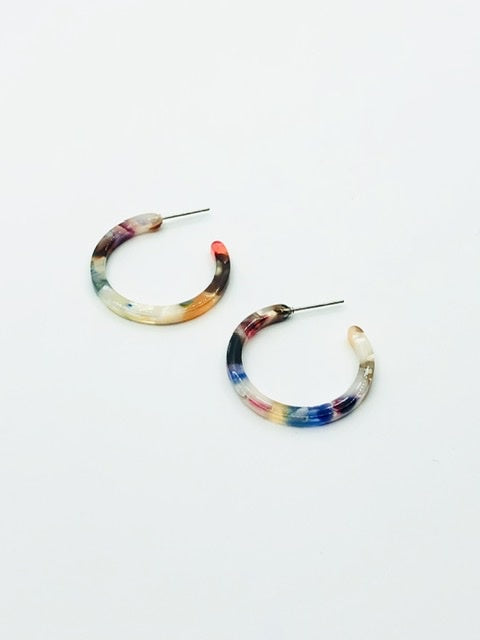 Some Small Candy Hoop Earrings 903d