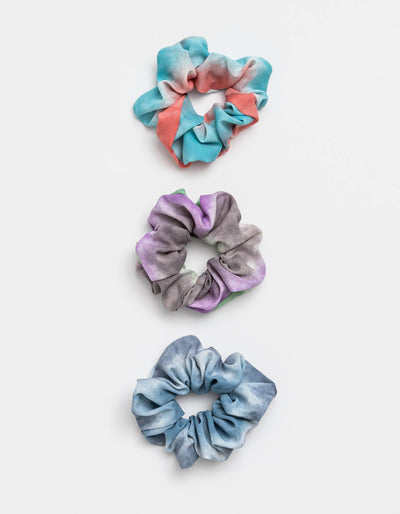Stella and Gemma Set of 3 Scrunchies Dip-Dye 7284