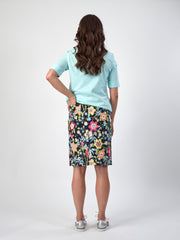 Vassalli Vita Printed Lightweight Skirt with Centre Back 372AV