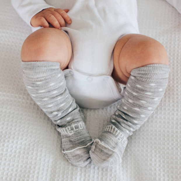 Lamington Knee High Merino Socks Baby Snowflake
