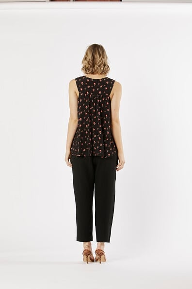 Fate and Becker Sweet Like Honey Top in Desert Floral Print