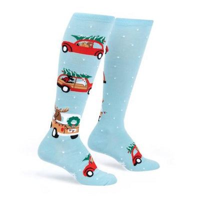 Sock it to Me Women's Knee Christmas Socks Treemendous Adventure 0528