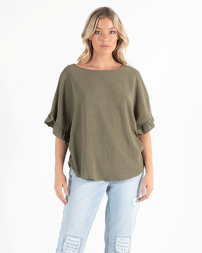 Sass Billie Kate Top in Olive