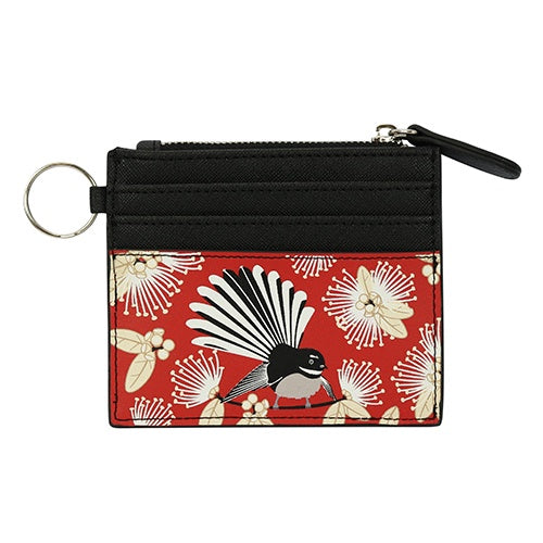 DQ Card Wallet Flirting Fantails Red
