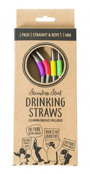 Moana Road Reusable Multicoloured Metal Straws