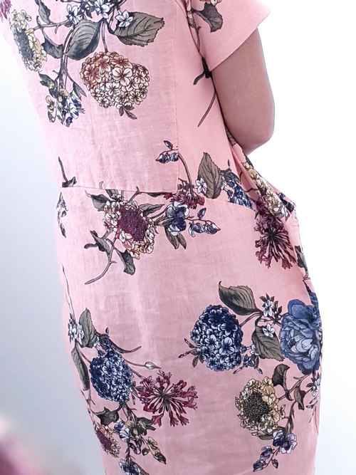 Helga May Peach Dahlia Rose Jungle Dress 108532