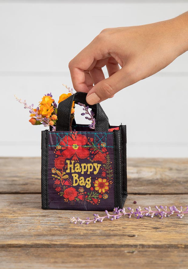 Natural Life Gift Bag Recycle Xs Happy Red Flower 114