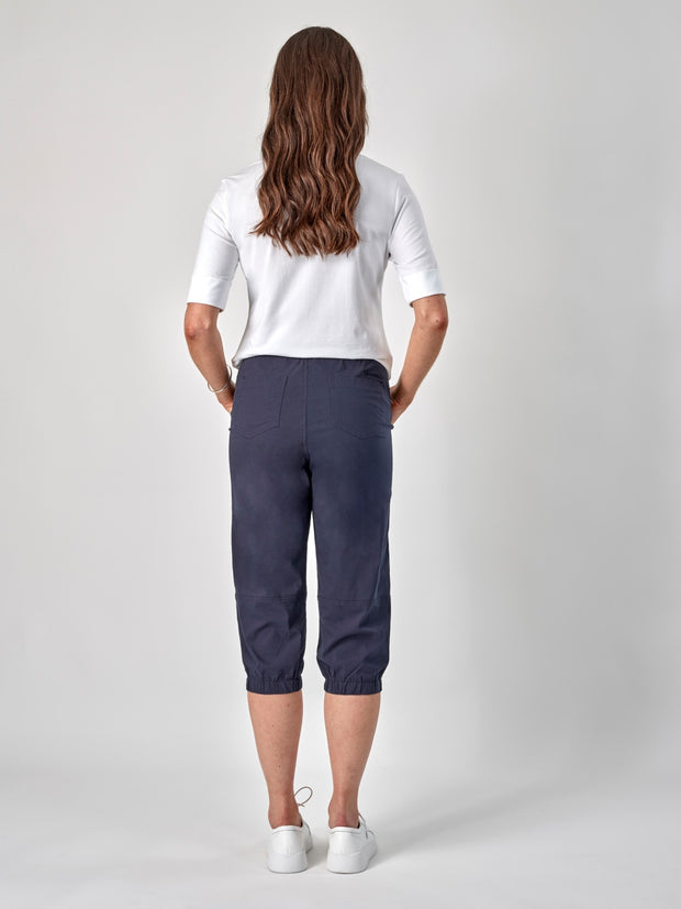 Vassalli 3/4 Length Pull On Comfort Pant with Elastic Cuff 263 Navy