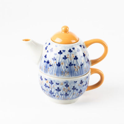Trade Aid Ditsy Floral Teapot with Cup