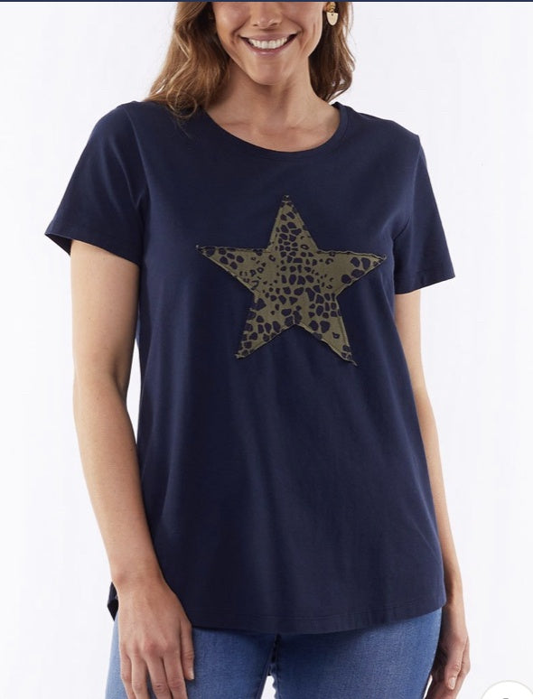 Elm All Star Tee in Navy