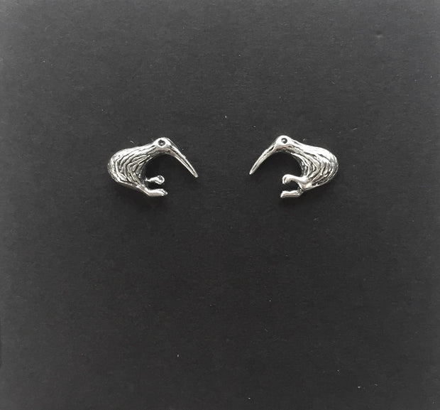 Sparkle Sterling Silver Kiwi Earrings