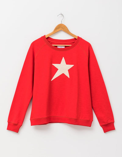 Stella and Gemma Sweater Flame Ecru with Fluffy Star 3077