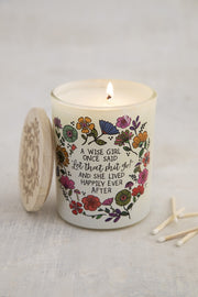 Natural Life Soy Jar Candle Wise Girl 059