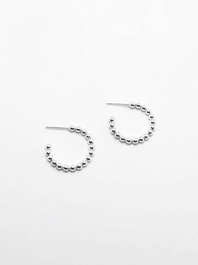 Some Sterling Silver Balance Hoops 107