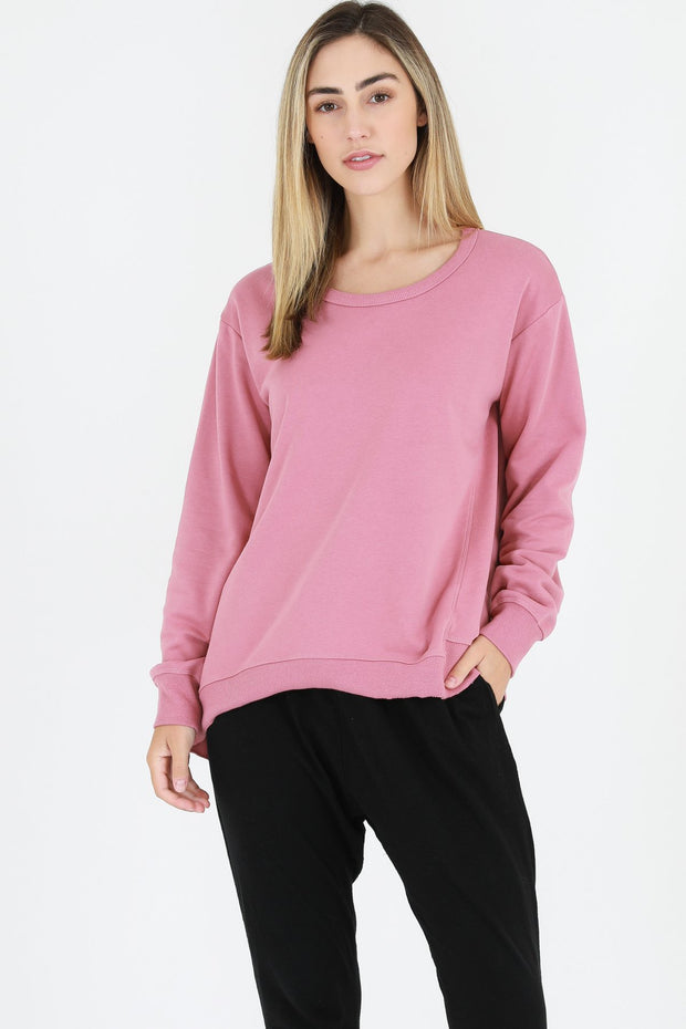 3rd Story Newhaven Sweater in Tango Pink