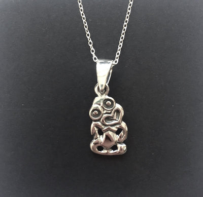 Some Sterling Silver Tiki Necklace 65