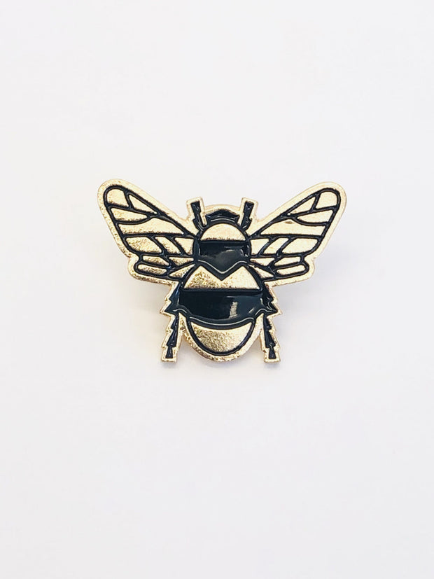 Some Bee Pin / Brooch black gold 108