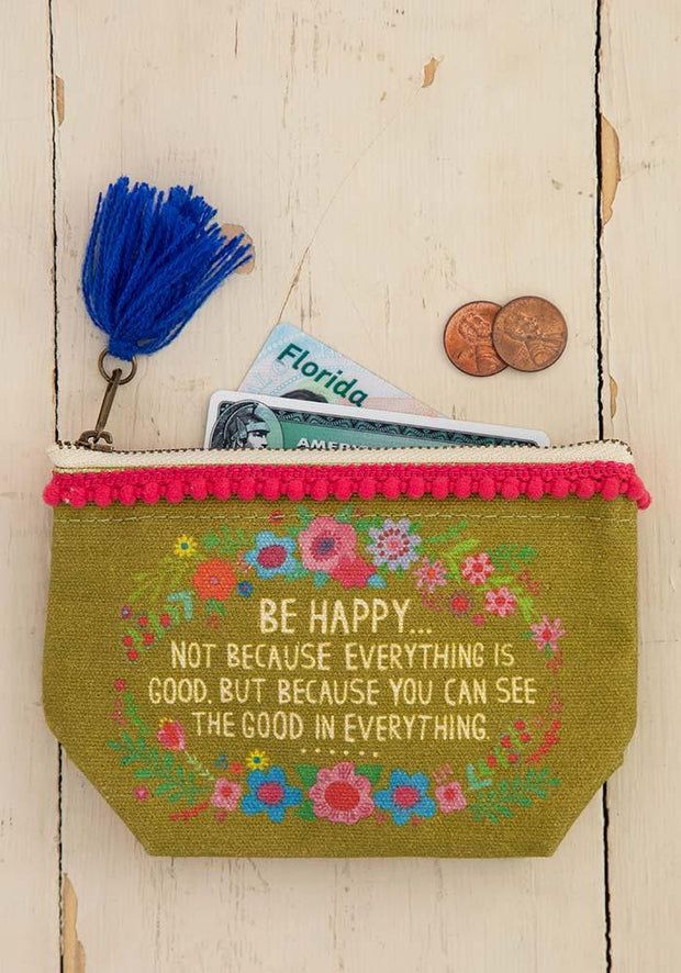 Natural Life Pouch Mini Canvas See The Good 415