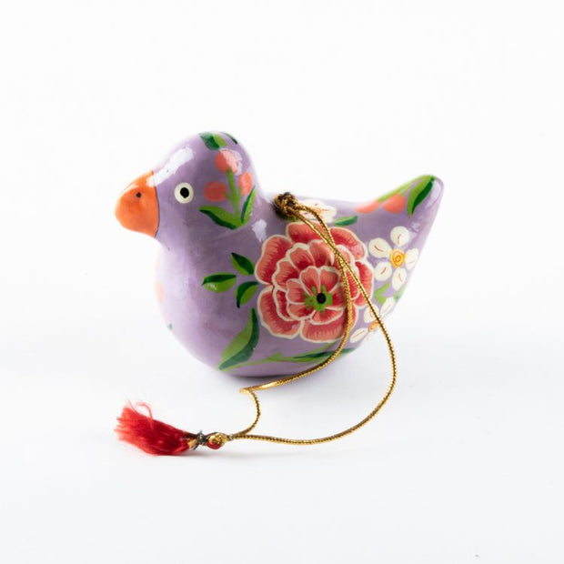 Trade Aid Purple floral bird hanging 09.22.1785