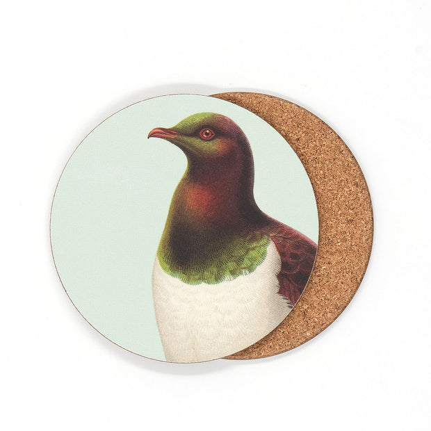 100% NZ Hushed Kereru Coaster
